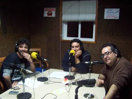 Sinraza, en los estudios de OVR, con la gente de Fiebrederock
